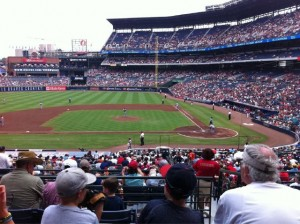 View from Atlanta Braves game