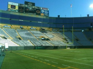 View from Lambeau Field