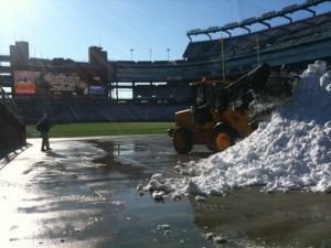Gillette Stadium Snow