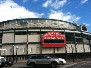 View from outside Wrigley Field